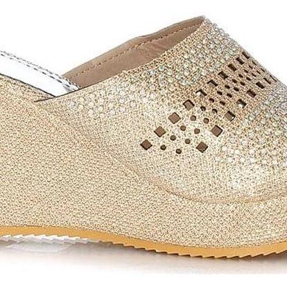 Prety Dámské pantofle na klínku CP20-2BE Velikost: 37 (24 cm)