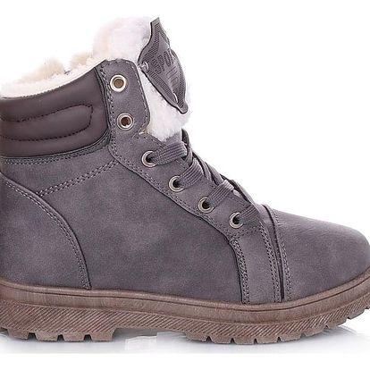 Cabin Šedé dámské zimní boty RA1011G Velikost: 37 (24 cm)