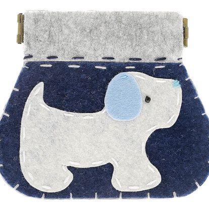 Fashion Icon Peněženka Šedý pejsek flísová na magnet