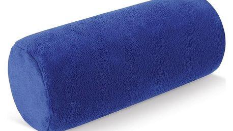 Bellatex Polštář pod krk Válec mikro modrá, 15 x 35 cm