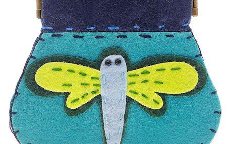 Fashion Icon Peněženka Vážka velká flísová na magnet