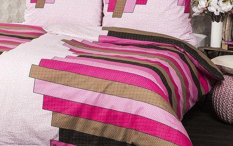 Jahu Bavlněné povlečení Stripe Pink, 140 x 200 cm, 70 x 90 cm