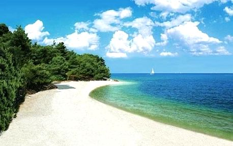 Chorvatsko - Istrie na 8 až 10 dní, bez stravy s dopravou vlastní, 50 m od pláže
