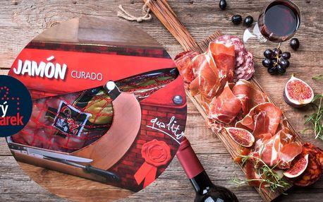 Španělská sušená kýta Jamón bez kosti v dárkové krabičce