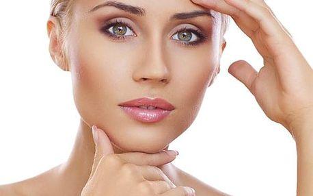 Omlazující ošetření pleti pomocí laseru, lymf. masáž obličeje, aplikace kyseliny hyaluronové.