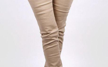 Sboty Béžové kalhoty L906-5BR Velikost: XS