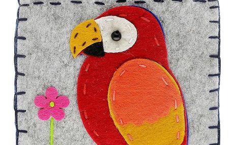 Fashion Icon Peněženka Papoušek flísová na magnet