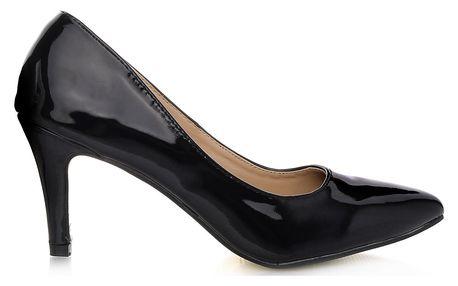 ALWAYS Lesklé černé lodičky 3256-1B Velikost: 40 (26,5 cm)