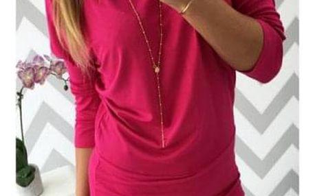 Dámské volné šaty s dlouhým rukávem - 5 barev