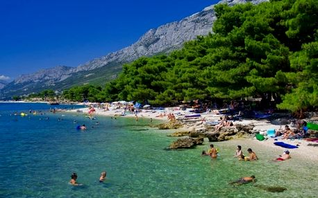 Chorvatsko - Makarská riviéra na 10 dní, bez stravy s dopravou autobusem, 300 m od pláže