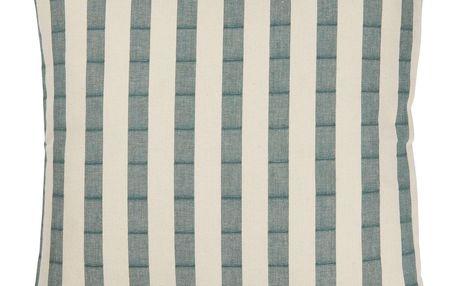 IB LAURSEN Povlak na polštář Green Stripes 50x50 cm, zelená barva, bílá barva, textil
