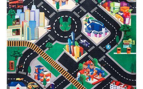 Koopman Dětská hrací podložka s autíčky Fashion city, 70 x 80 cm