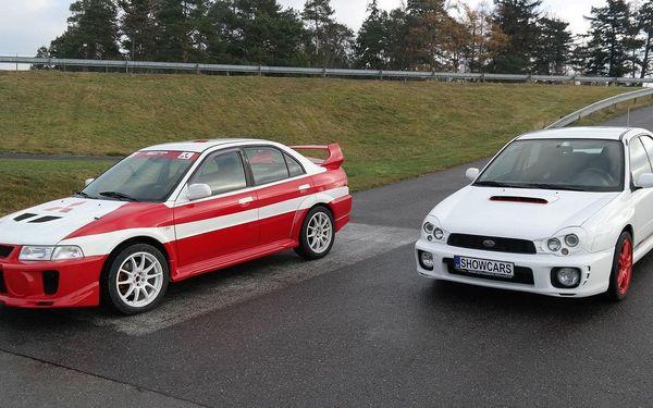 3 kola v SUBARU IMPREZA WRX STI + 3 kola v MITSUBISHI LANCER EVO3
