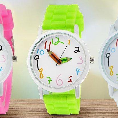 Dětské hodinky ve veselých barvách