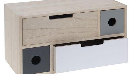 Koopman Dřevěná skříňka se 4 šuplíky Elche, 30 cm