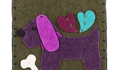 Ochranné pouzdro na mobilní telefony Pes filcové na zip