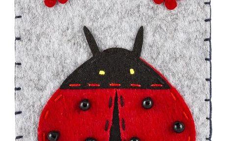 Ochranné pouzdro na mobilní telefony Beruška filcové na magnet