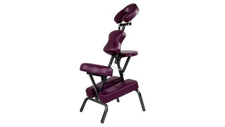 Movit 1366 Masážní židle skládací vínová 8,5 kg