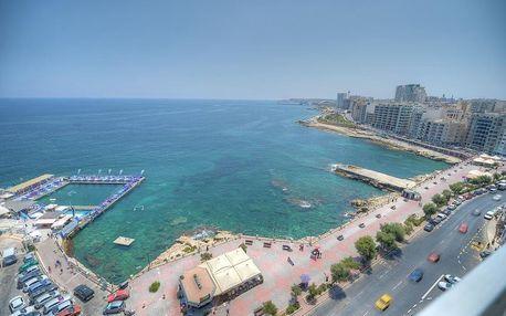 Malta - Sliema na 5 dní, snídaně s dopravou letecky z Prahy, 100 m od pláže