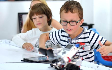 Zkušební lekce v centru robotiky Robiq