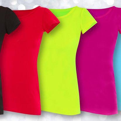 Kvalitní prodloužená dámská trika ze 100% bavlny