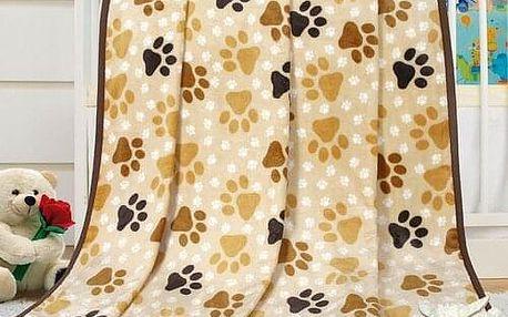 Bellatex Dětská deka Ella Tlapičky, 100 x 155 cm