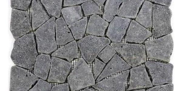 Garth Mozaika z andezitu - tmavě šedá obklady 1 m2