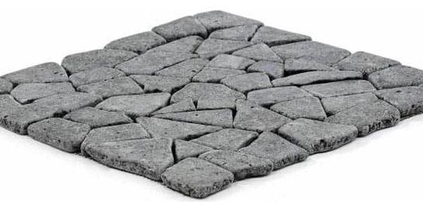 Garth Mozaika z andezitu - tmavě šedá obklady 1 m23