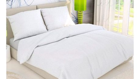 Kvalitex krepové povlečení bílá, 140 x 200 cm, 70 x 90 cm
