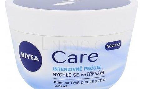 Nivea Care 200 ml univerzální krém na tvář, ruce i tělo pro ženy