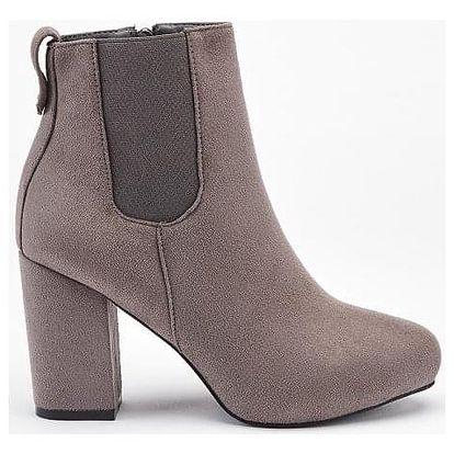 Dámské šedé kotníkové boty Central 1101