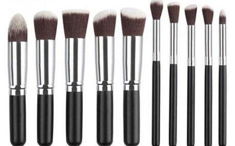 Sada kosmetických štětců - 10 kusů - 6 variant