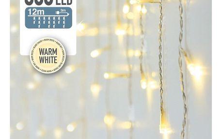 Světelný řetěz Icicle teplá bílá, 360 LED