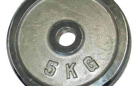 CorbySport 4763 Kotouč chrom 5 kg - 25 mm
