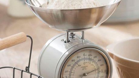Kitchen Craft Mechanická kuchyňská váha French grey - 4 kg, šedá barva, kov