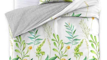 DecoKing Saténové povlečení Herbal, 140 x 200 cm, 70 x 90 cm, 140 x 200 cm, 70 x 90 cm