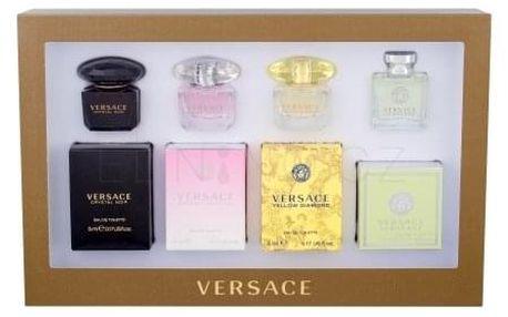 Versace Mini Set 4 dárková kazeta pro ženy edt Versense 5 ml + edt Yellow Diamond 5 ml + edt Bright Crystal 5 ml + edt Crystal Noir 5 ml miniatura