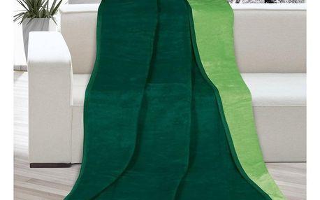 Bellatex Deka Kira tmavě zelená/zelená, 150 x 200 cm