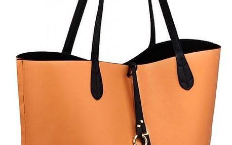 SET: Dámská černotělová oboustranná kabelka Kylie 567
