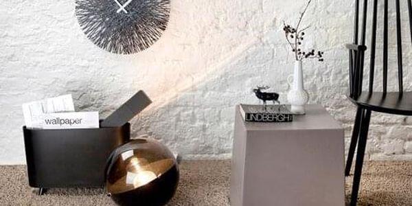 nástěnné hodiny Koziol Silk, černé3