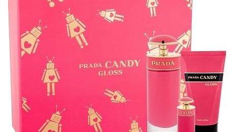 Prada Candy Gloss dárková kazeta pro ženy toaletní voda 80 ml + toaletní voda 7 ml + tělové mléko 75 ml