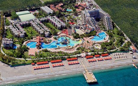 Turecko - Kemer na 8 dní, ultra all inclusive s dopravou letecky z Prahy, přímo na pláži