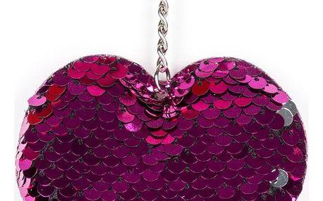 Fashion Icon Klíčenka s flitrovým srdcem
