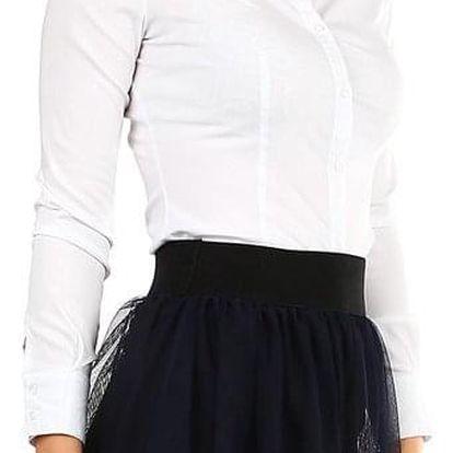 Dámská bílá košile s dlouhým rukávem bílá
