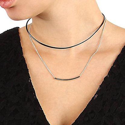 Dvouvrstvý choker náhrdelník