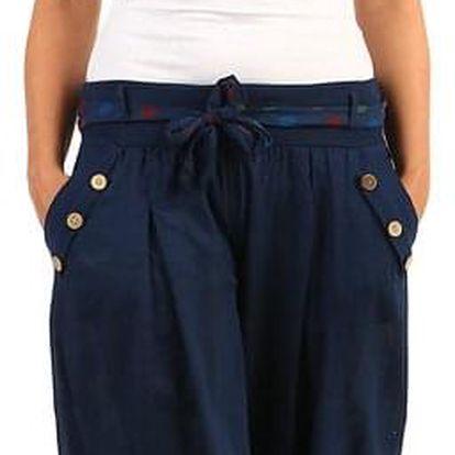 Harémové dámské kalhoty tmavě modrá