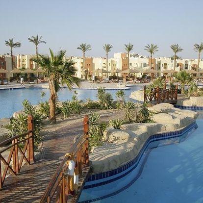 Egypt - Hurghada na 7 dní, ultra all inclusive s dopravou letecky z Prahy, přímo na pláži
