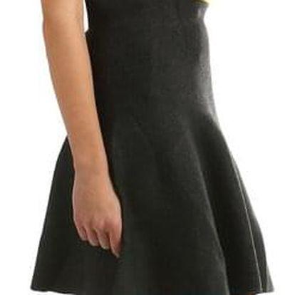 Dámská úpletová sukně áčková černá