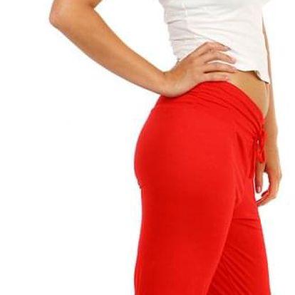 Dámské harémové kalhoty červená