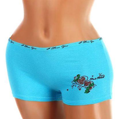 Dámské kalhotky boxerky s potiskem modrá